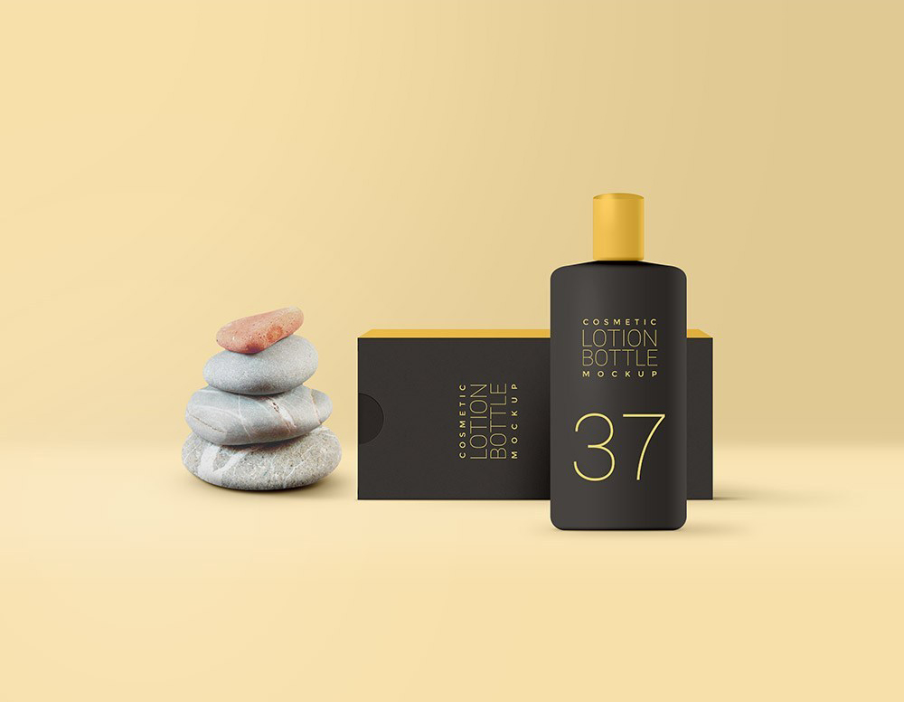 化妆品乳液护肤品香水手油包装展示样机 Cosmetic Lotion Packaging Mockup