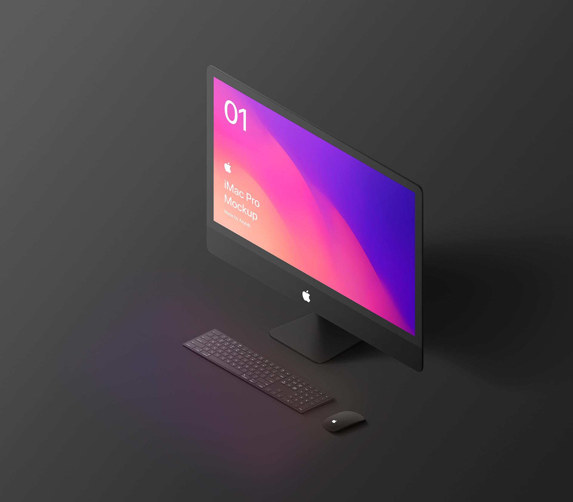 苹果电脑展示样机 iMac Pro样机模型素材iphone x