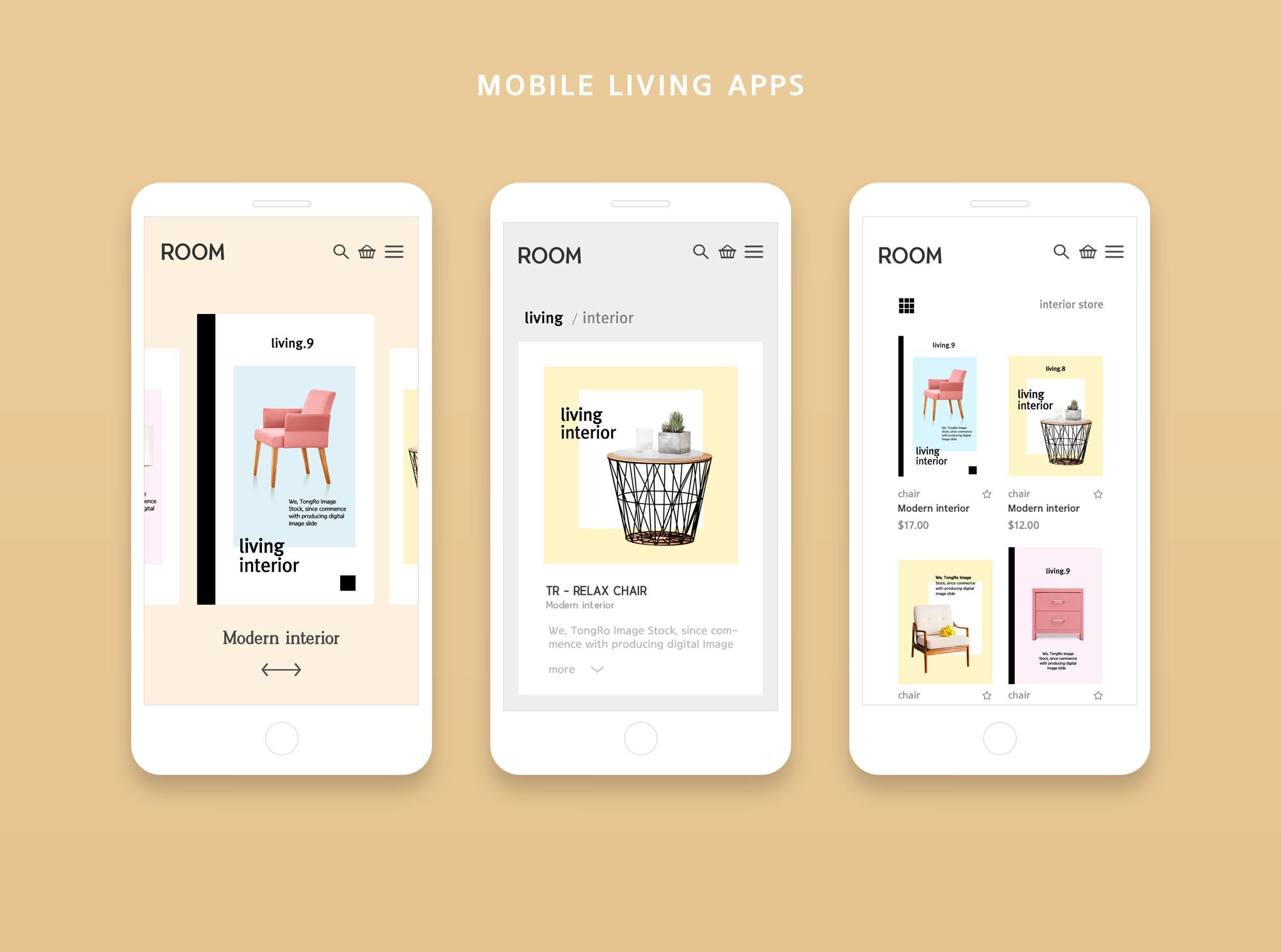 简约风 Mobile living Apps