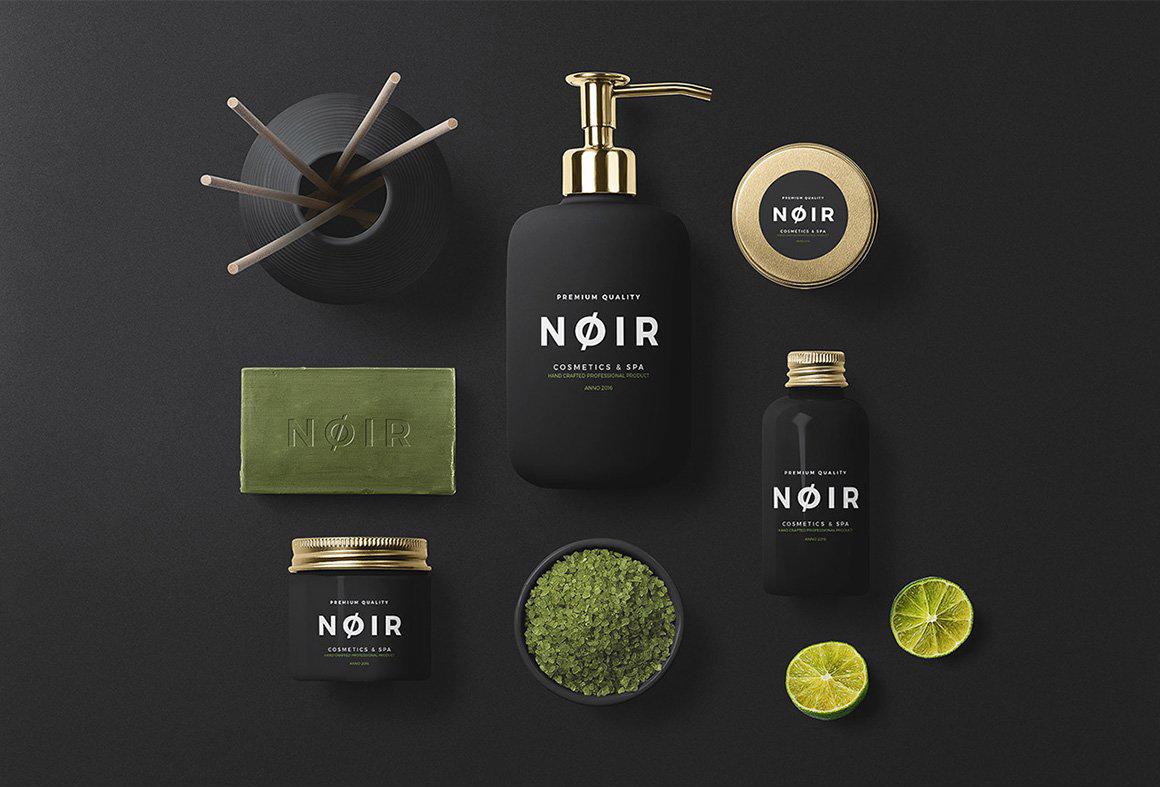 化妆品样机护肤品品牌设计瓶子展示样机洗发水 Branding Cosmetics Mockup Creator