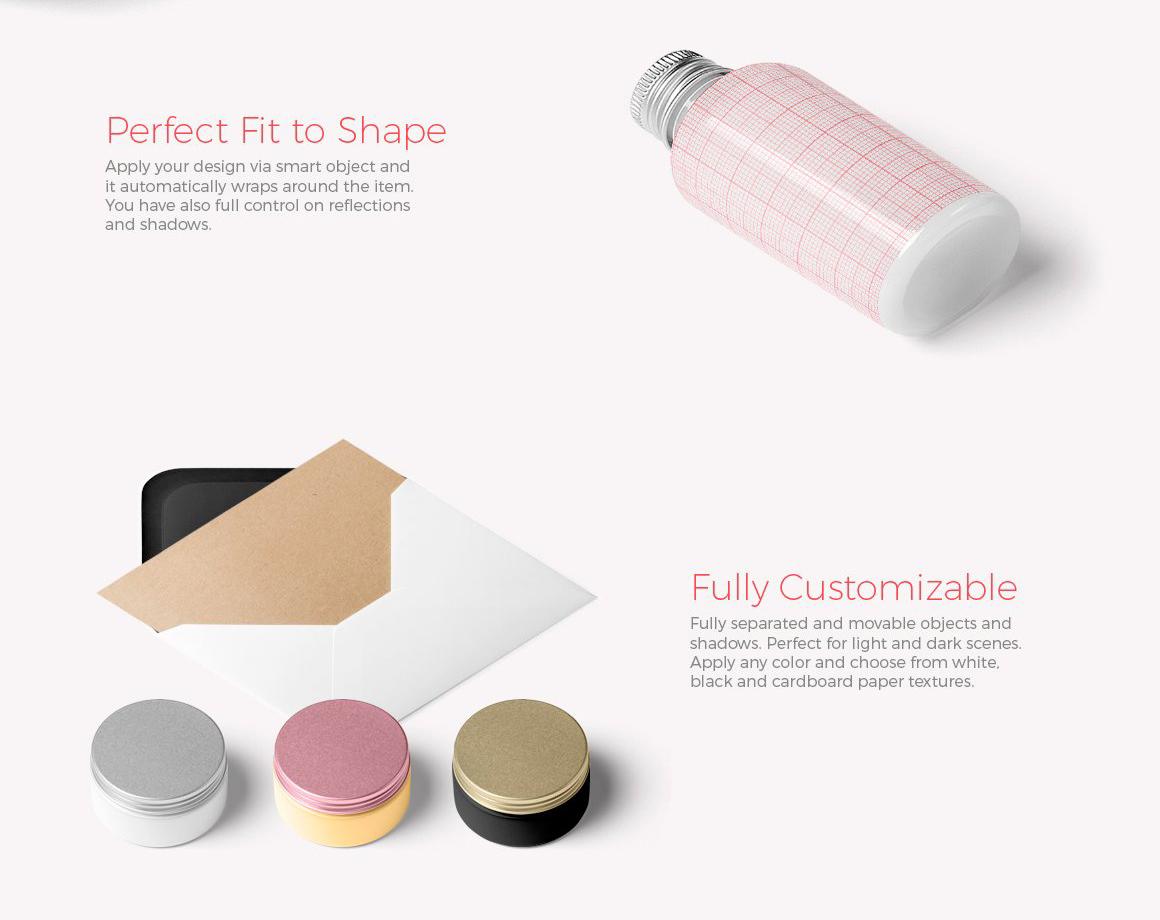 (合集)美发水疗化妆品护肤品品牌设计提案展示样机 Branding Cosmetics Mockup Creator插图(17)