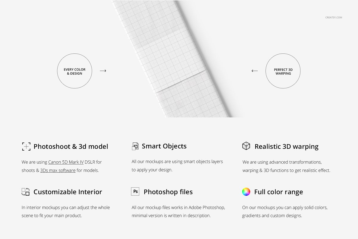 高端面料图案创意设计样机展示智能贴图PSD