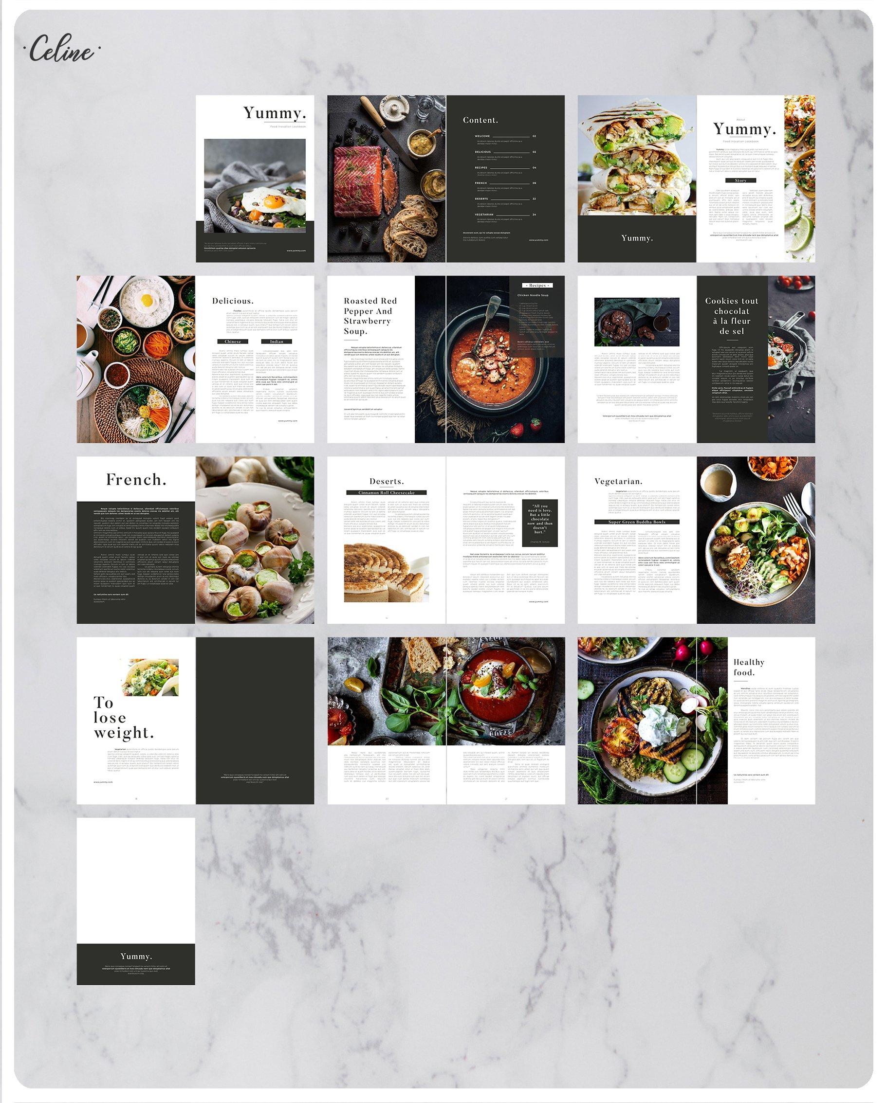 美食菜单画册模板Recipe Lookbook(1)