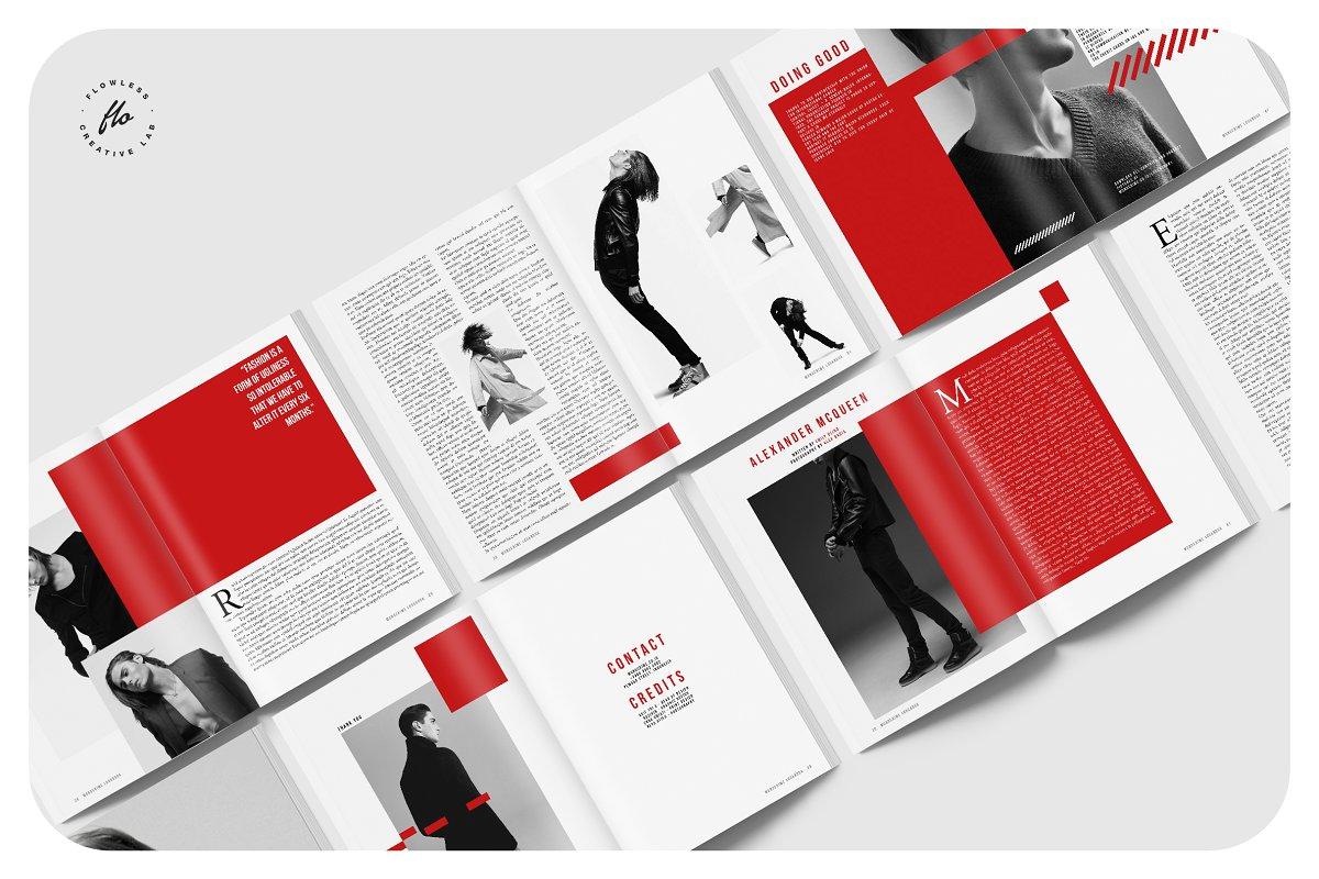 潮流男士服饰画册模板展示MONOCRIME FashionMagazine & Lookbook