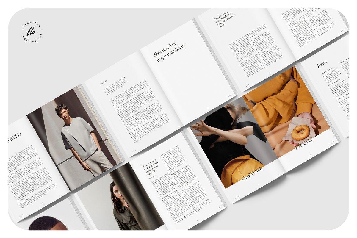 时尚男性主题画册模板MOLINE_Lifestyle_Magazine