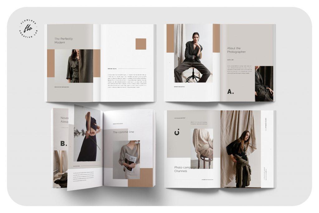 高端中性色调服装品牌画册 FEMININE Photography Portfolio