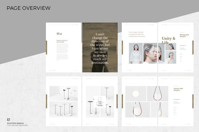 时尚品牌手册画册杂志设计模板