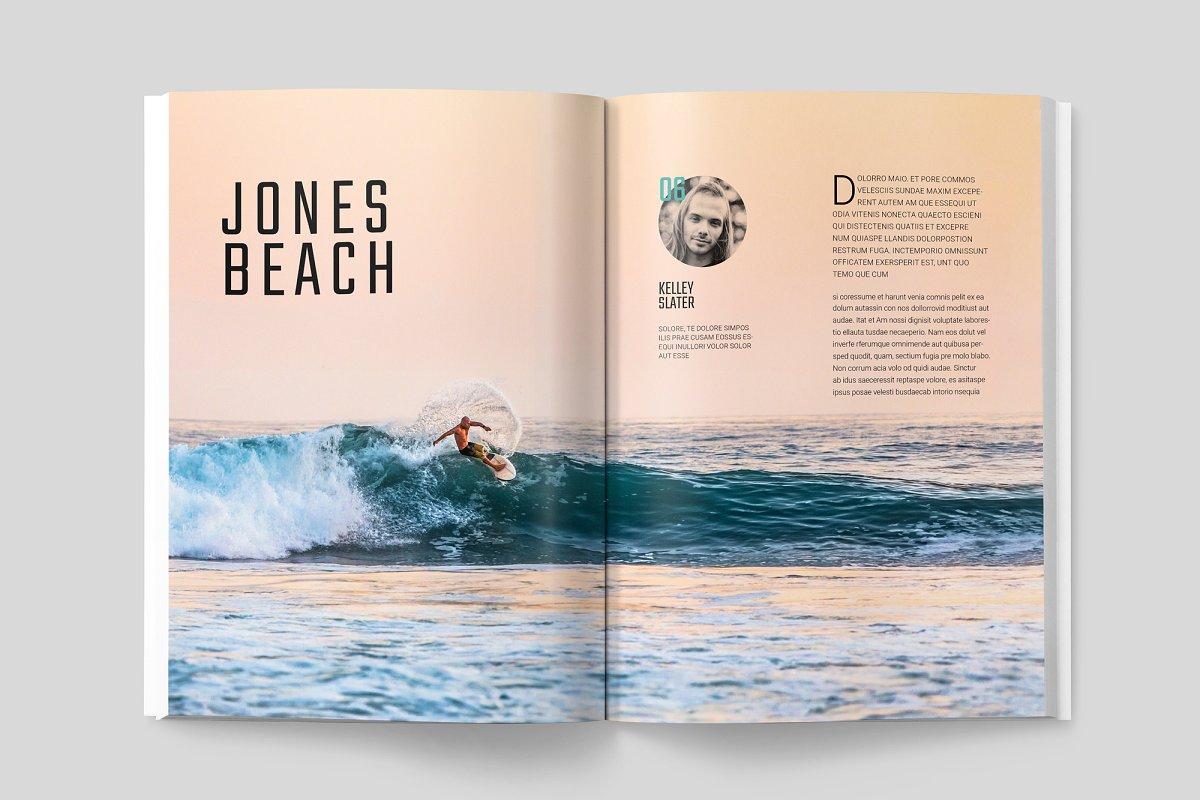 冲浪杂志画册模板展示WAVERIDER MAGAZINE