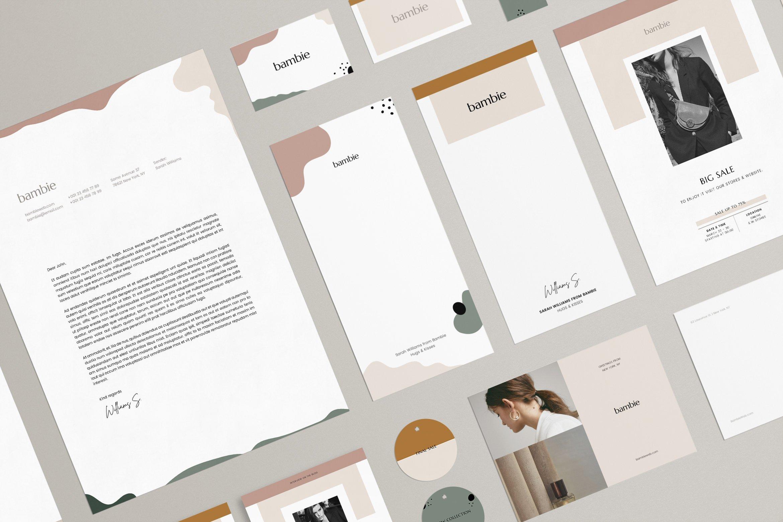 服装品牌VI标识规范手册 Bambie Brand Identity Pack