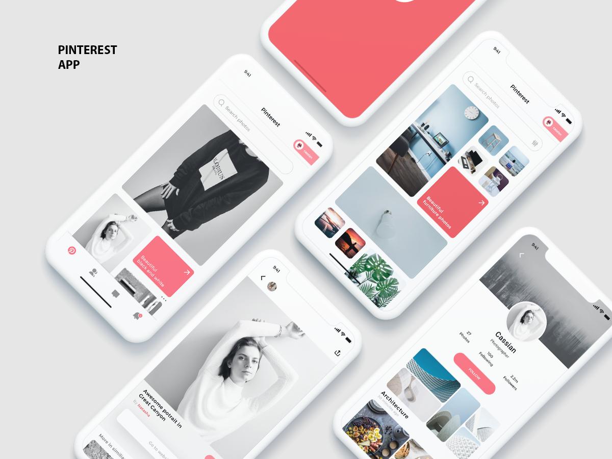 社交分享图片展示网站Pinterest app redesign