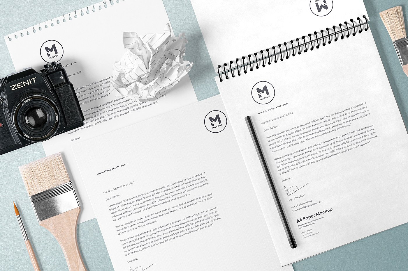 办公创展示样机PSD智能贴图 5 Stunning Stationery Mockups Set