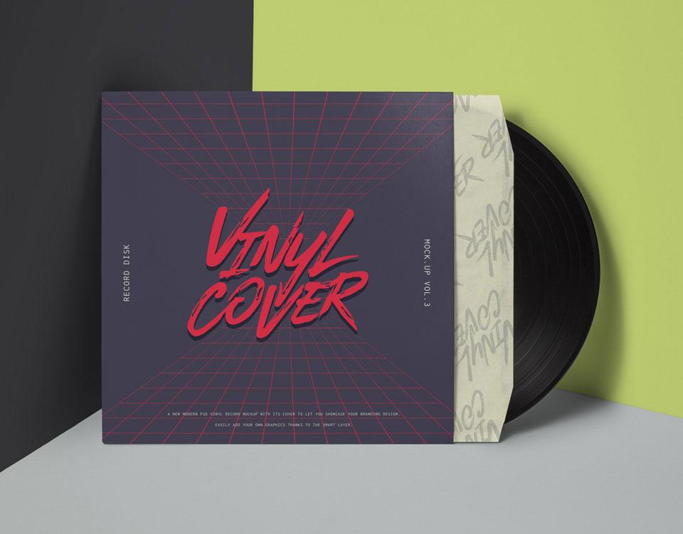 唱片包装设计展示样机 6 Vinyl Record Mockup