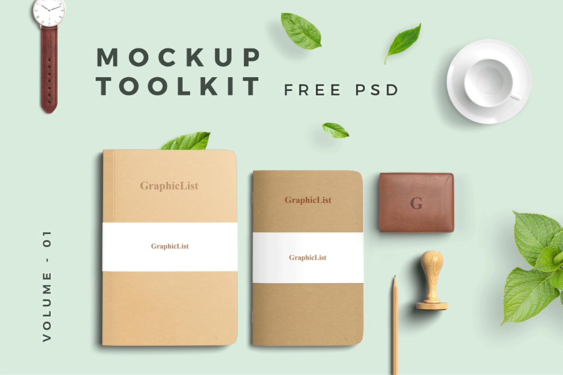 VI设计提案信封名片展示样机 Artistic Designers Mockup Toolkit Set