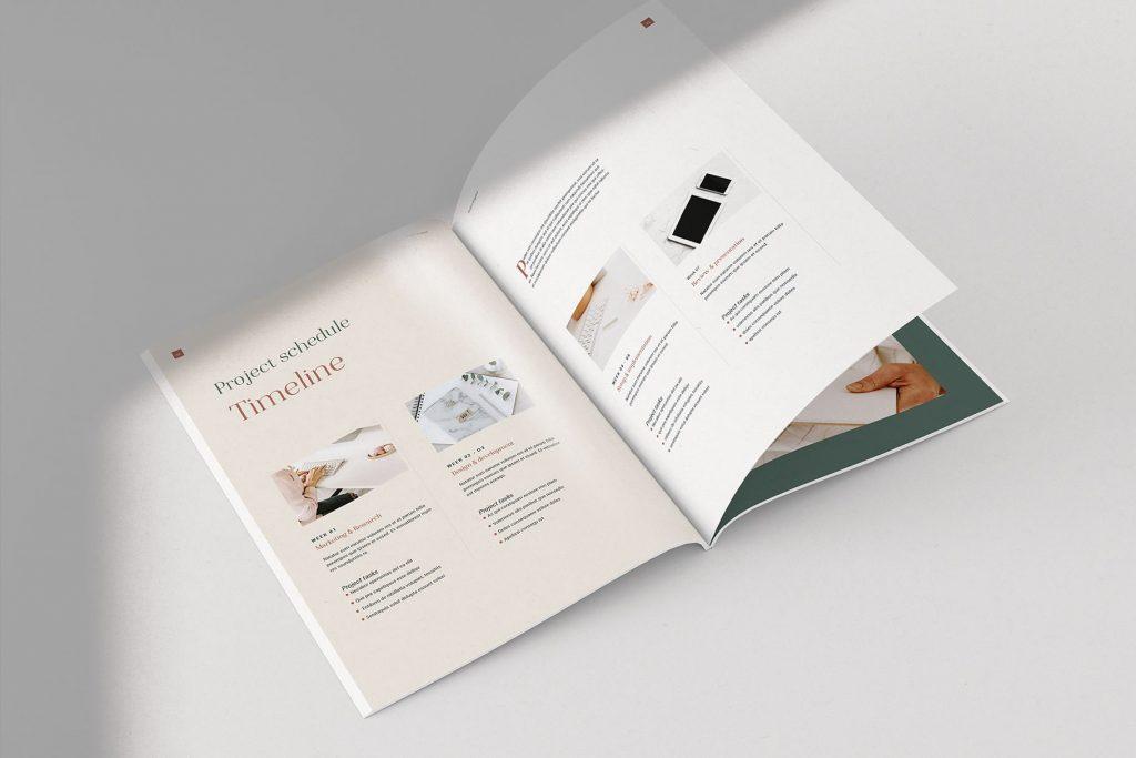 美容养生画册杂志模板Lighthouse Project Proposal(1)