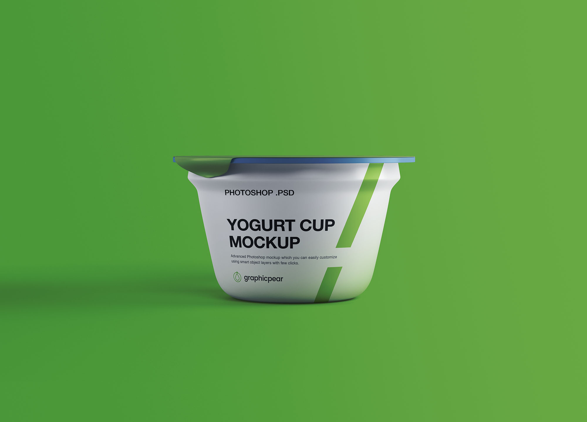 酸奶包装展示样机 Yogurt Plastic Cup Mockup