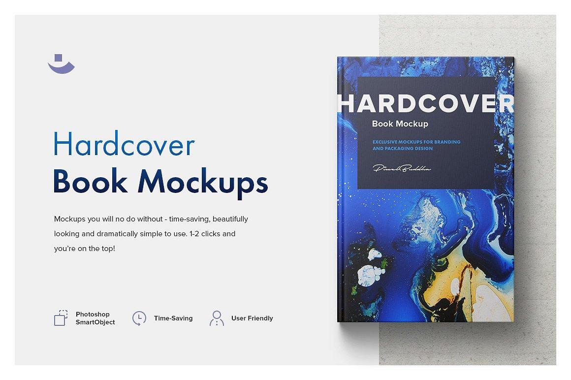 精装书籍设计提案展示样机 Hardcover Book Mockup Set