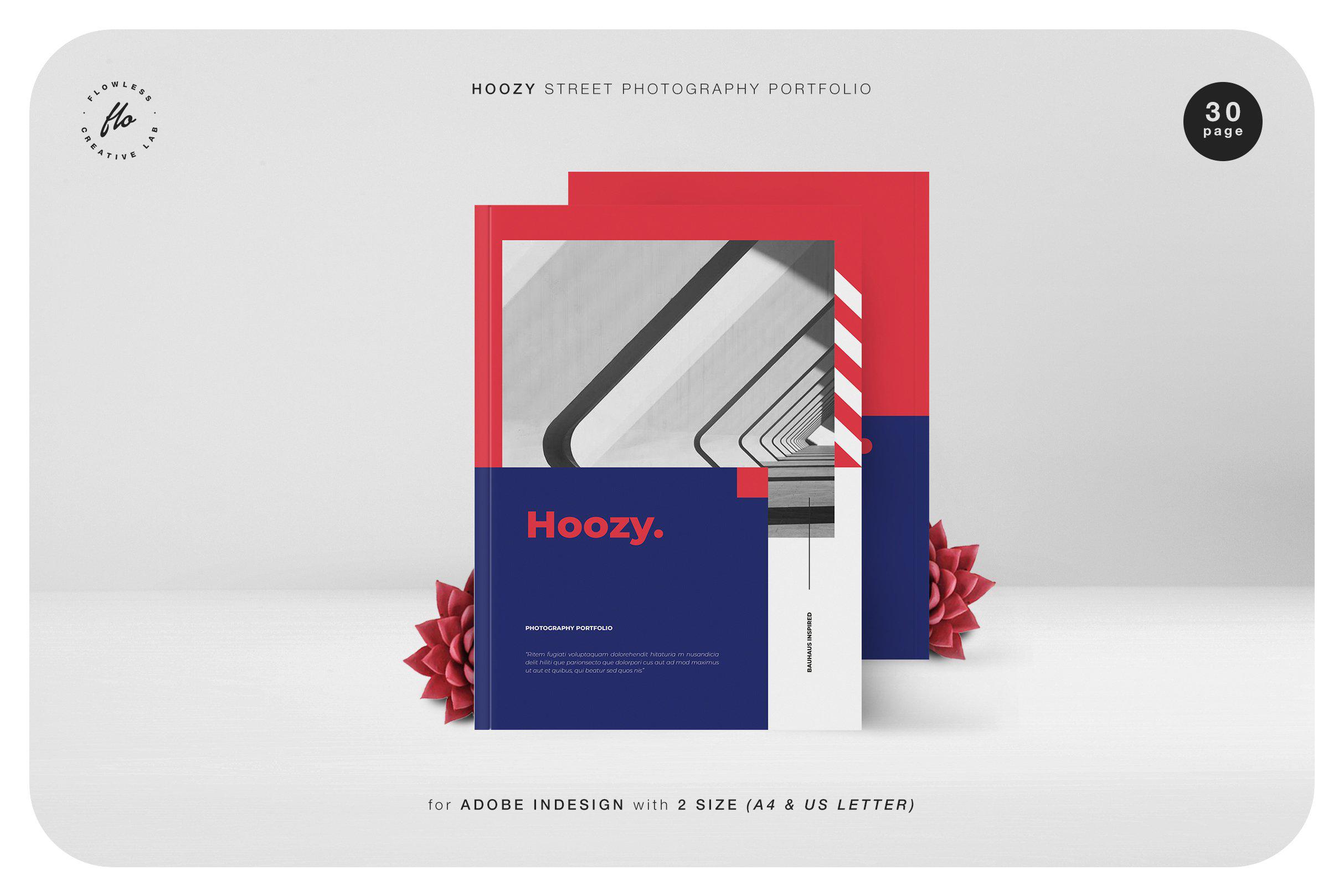 几何黑白摄影作品画册模板 HOOZY Street Photography Portfolio