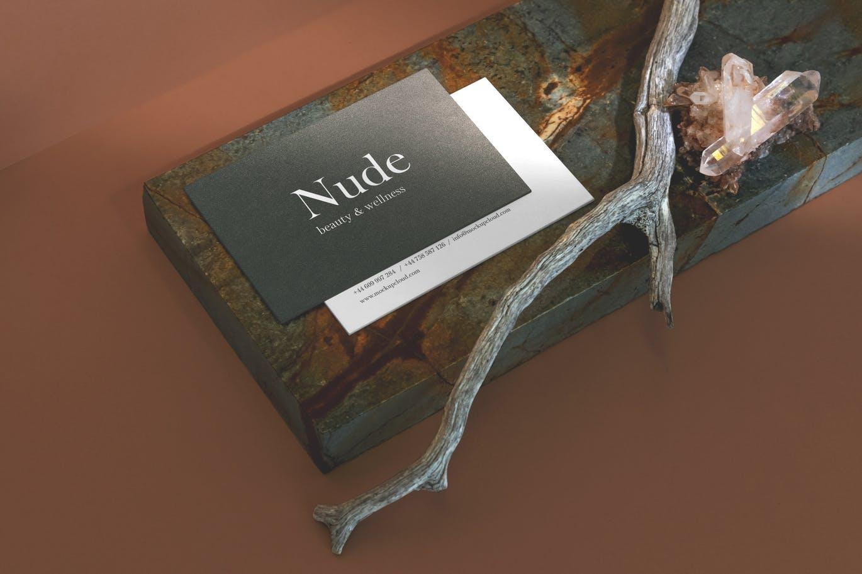 秋季品牌色套装烫金办公文具元素Nude Branding Mockup