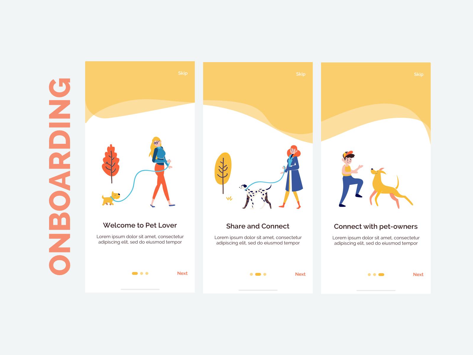 社交宠物应用程序UI工具包 APP设计Wallet - Payment App UI Kit