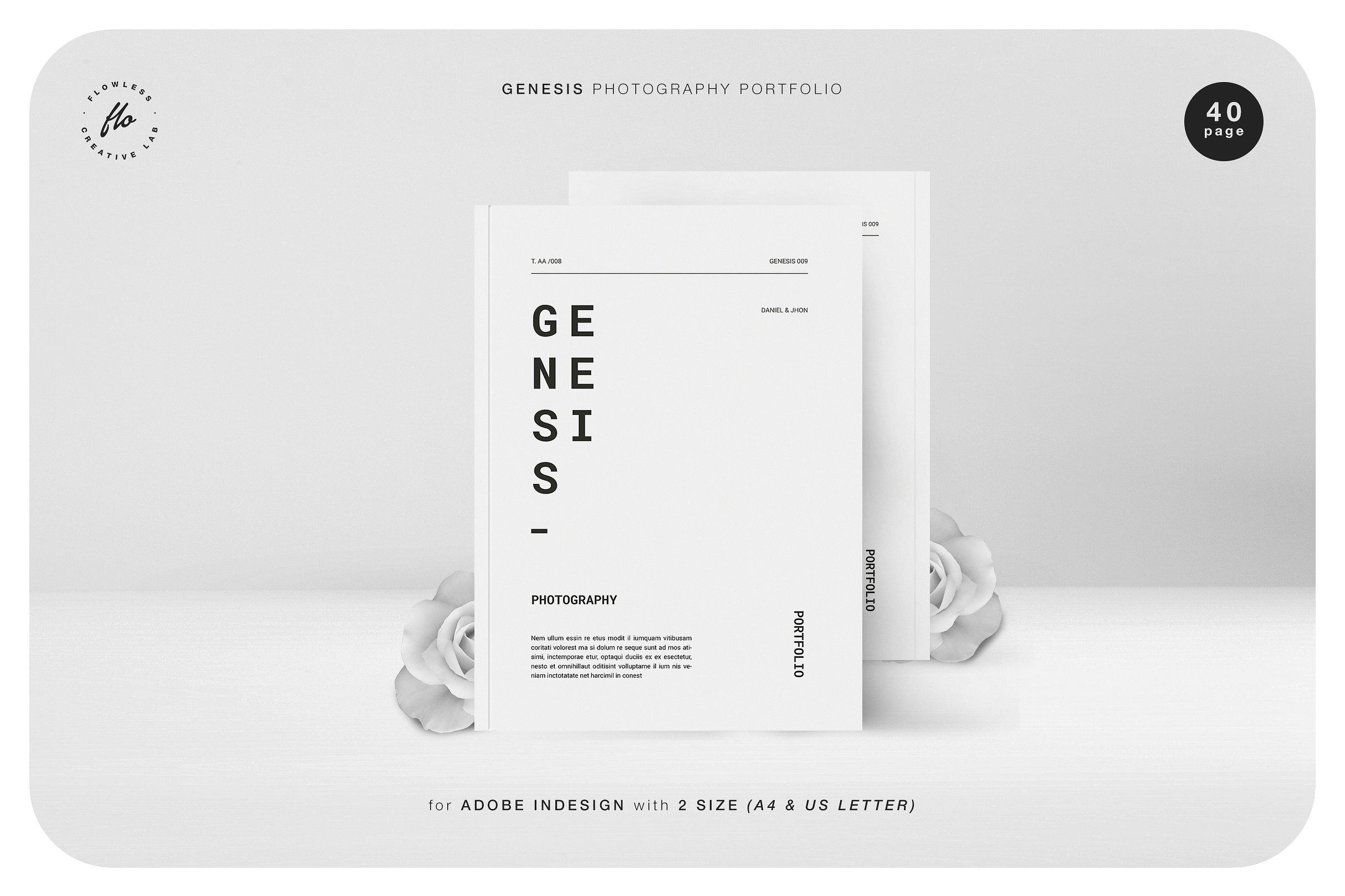 黑白服装设计画册GENESIS Photography Portfolio(1)