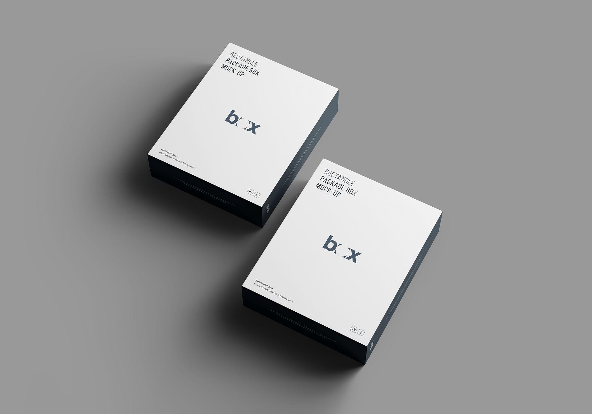 新产品系统软件CD包装盒样机PSD智能贴图模板 Product Box Mockup
