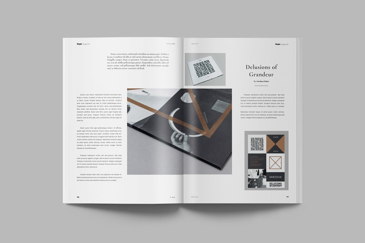 现代几何图案画册模板 DSGN Magazine INDD Templates
