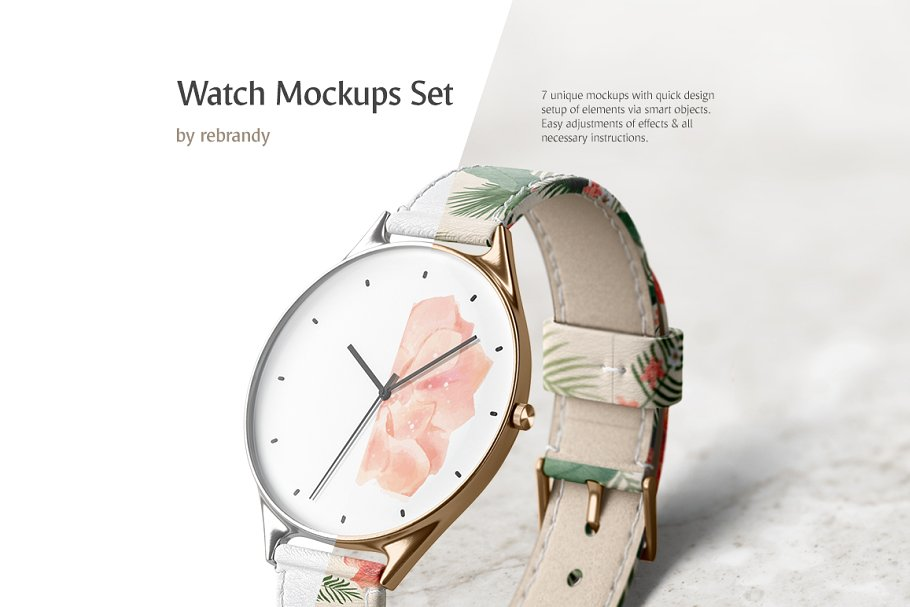 女士腕表高端精致女生手表样机Watch Mockups Set 3764529
