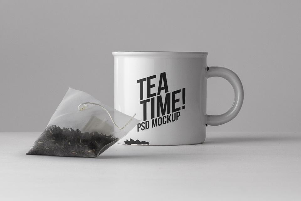 茶杯子样机Tea Mug Mockup