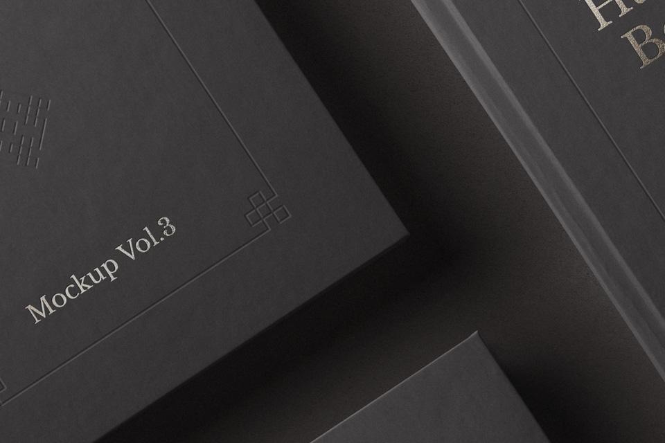 精致书籍样机Book Mockup Hardcover Vol3