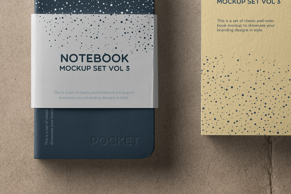 精致笔记本场景样机Notebook Mockup Set