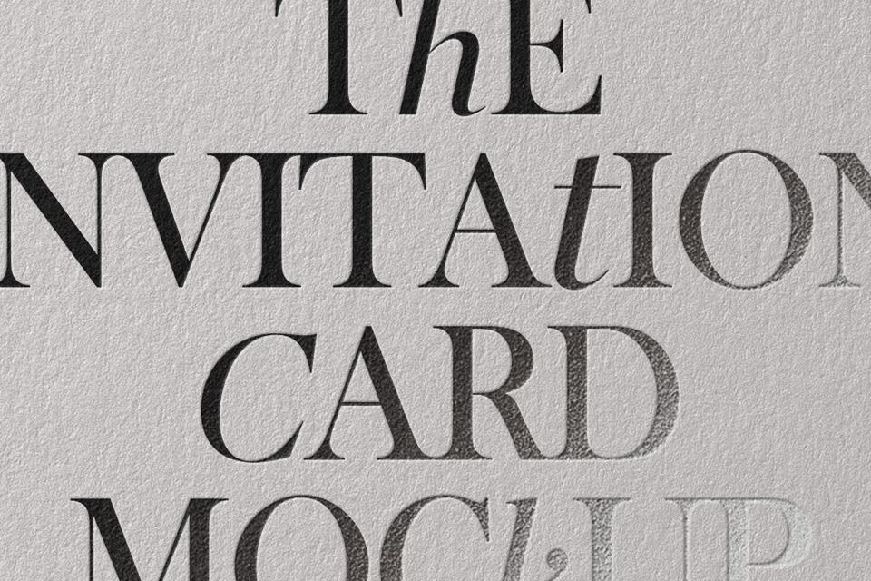 邀请卡样机Invitation Card Mockup