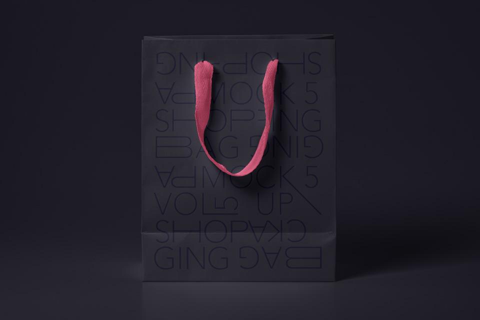购物袋样机Shopping Bag Mockup