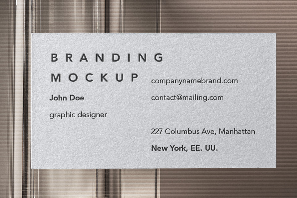名片品牌样机Business Card Branding Mockup