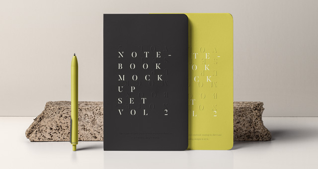 笔记本样机Notebook Mockup Set