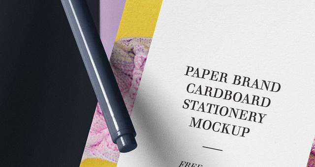 纸品牌样机Paper Brand Mockup