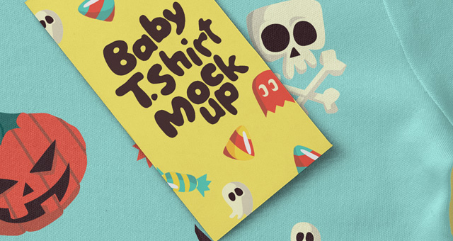 婴儿T恤Psd样机 Baby T-shirt Psd Mockup