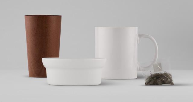 家居生活陶瓷餐具茶杯包装展示样机Tableware Psd Mockup