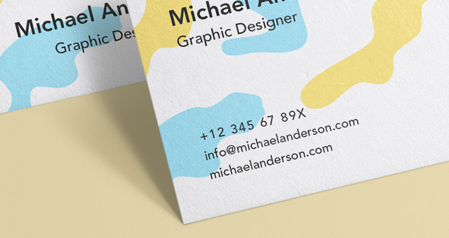 名片样机Business Card Mock-Up