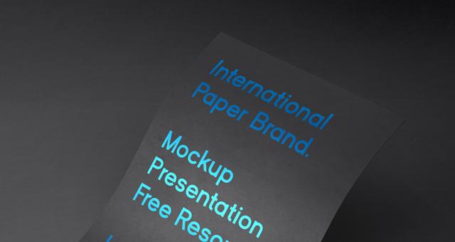 国际纸样机International Psd Paper Mockup