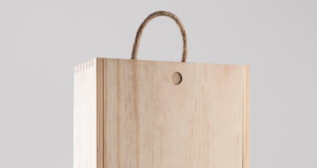 高档木质包装盒红酒木盒子包装展示样机Wine Wood Box Mockup