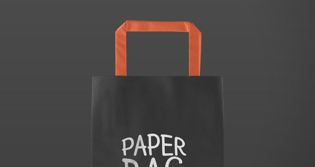 纸袋样机Paper Bag Mockup