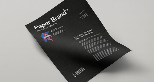 精致传单海报样机Psd Paper Mock-Up Vol11