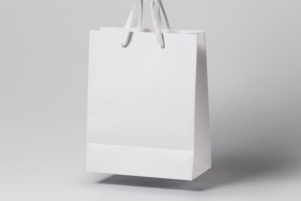 购物袋样机Psd Gravity Shopping Bag Mockup 2