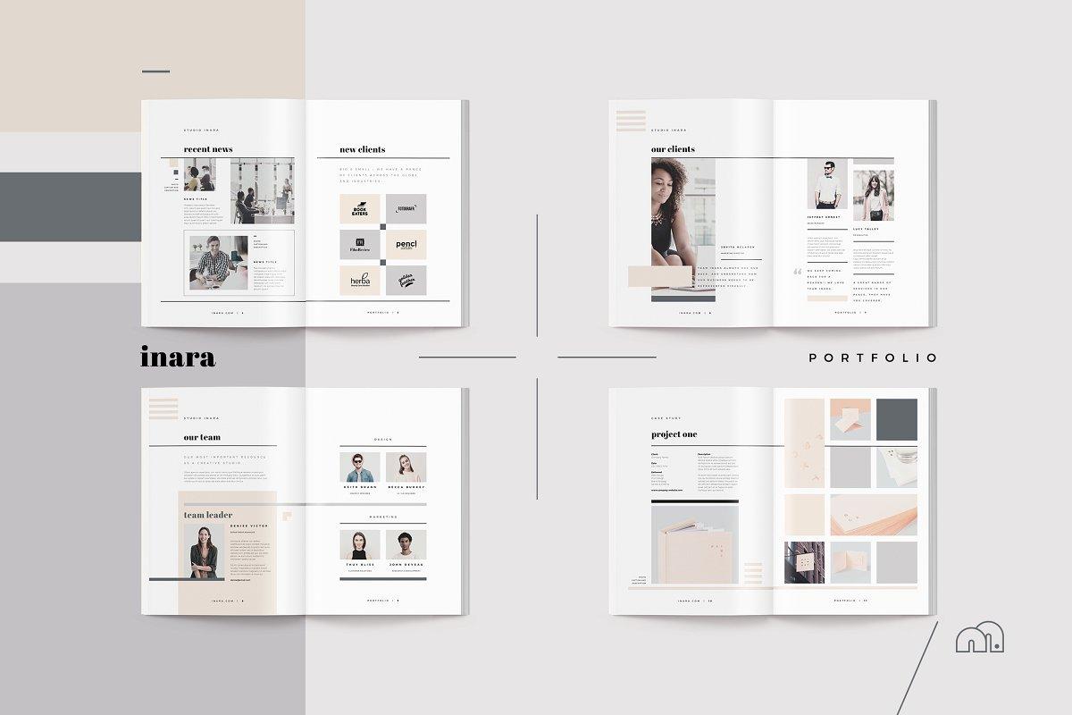 简约优雅企业宣传册bilmaw  Inara Pitch Pack