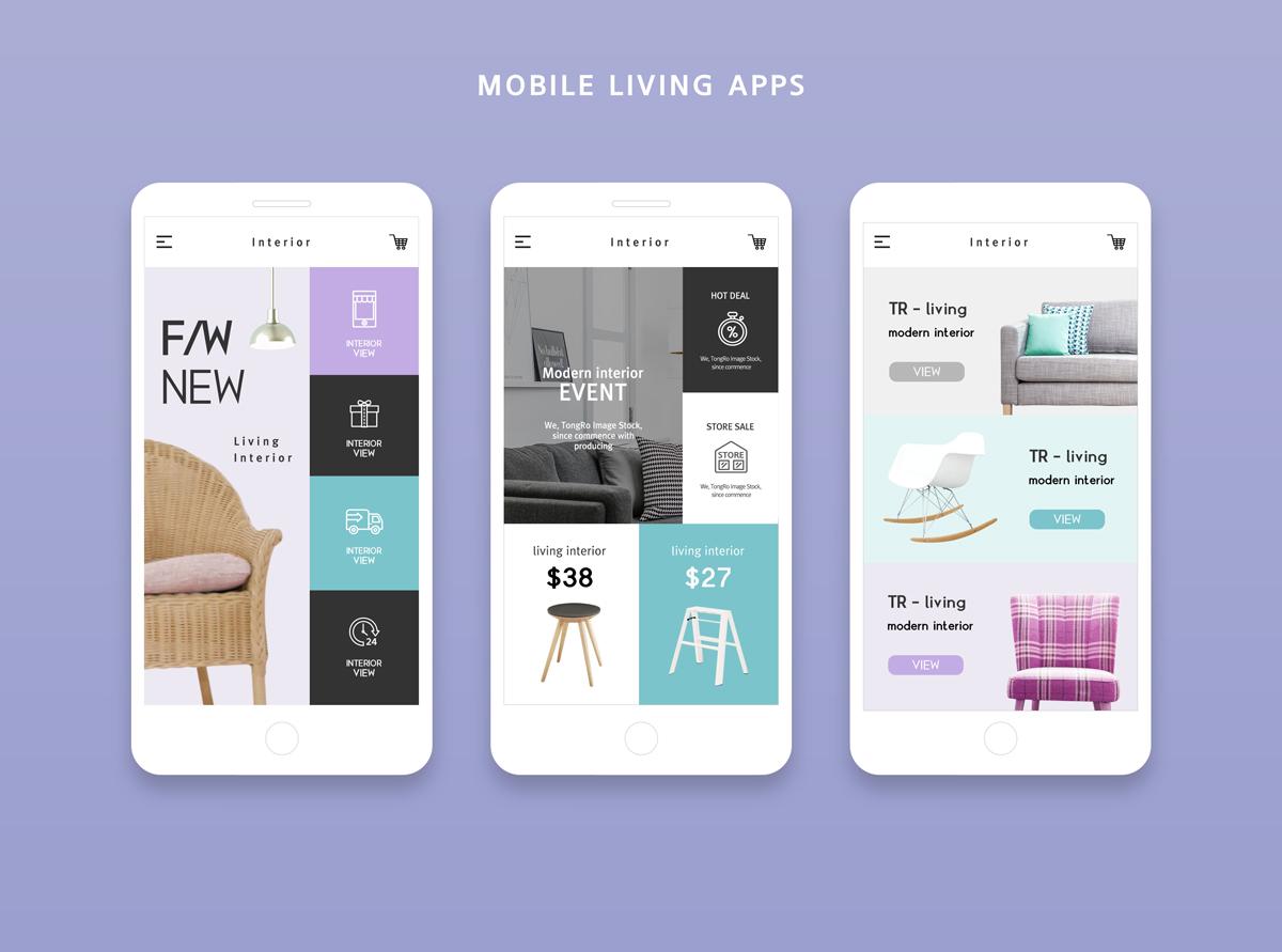 简约风家居UI Home  Mobile living App2