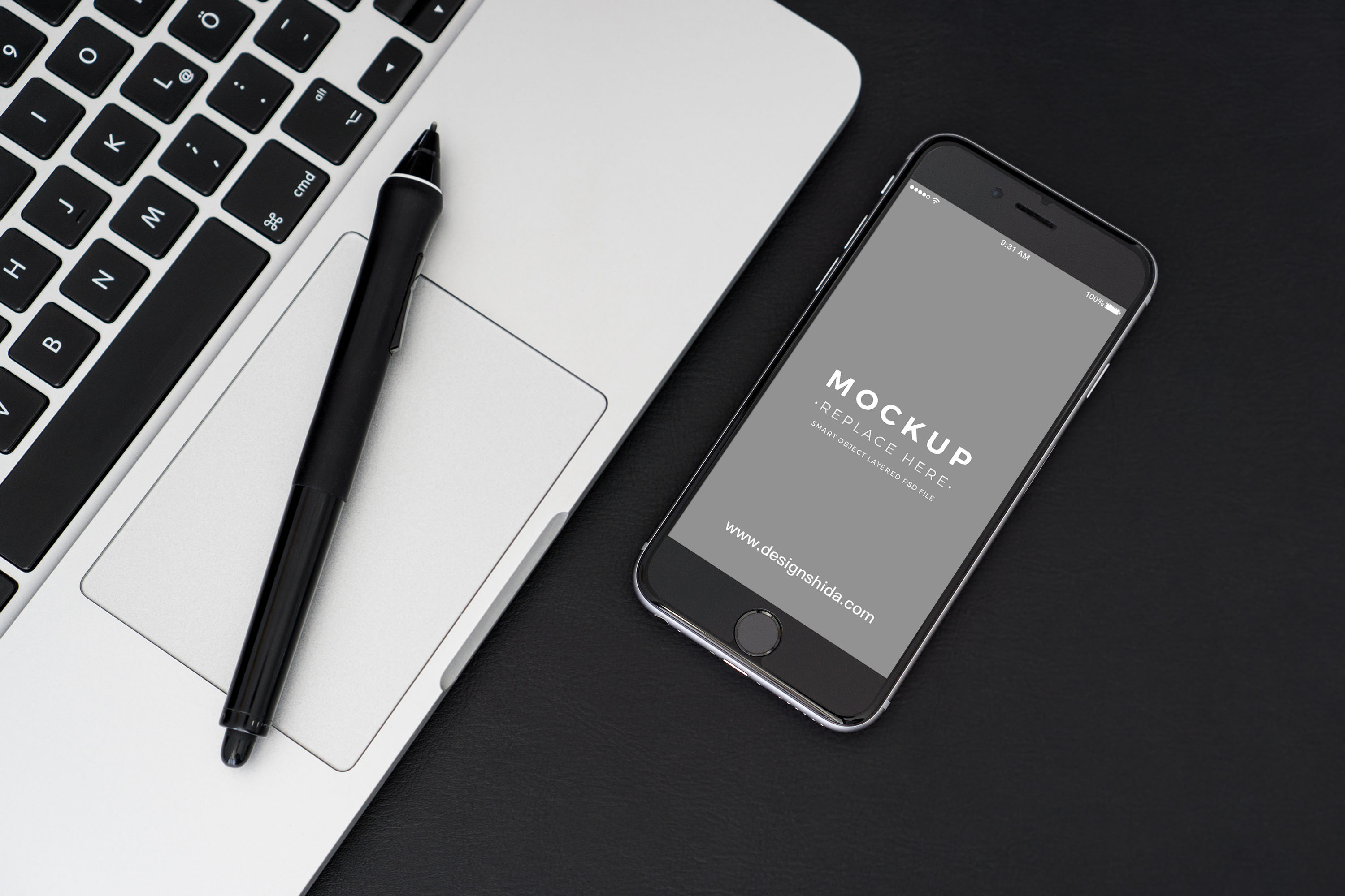 APP展示样机 iPhone苹果手机样机 Psd_Mockups_by_PixaSquare.com
