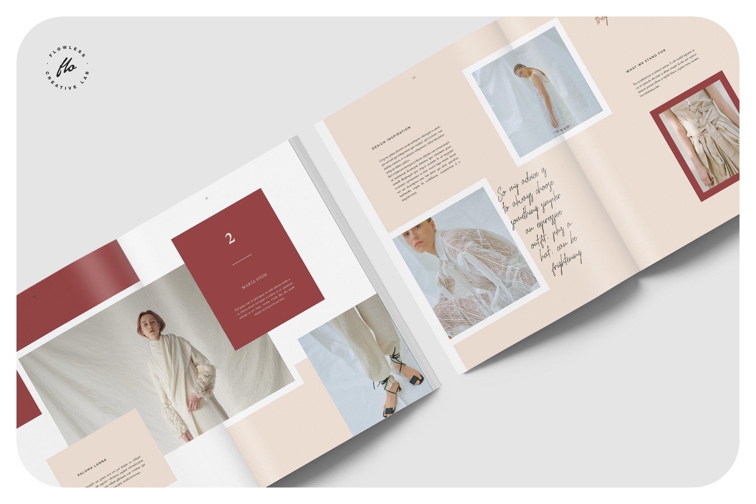 女性高端服装画册杂志模板SPRIN GOutfit Editorial Lookbook(1)
