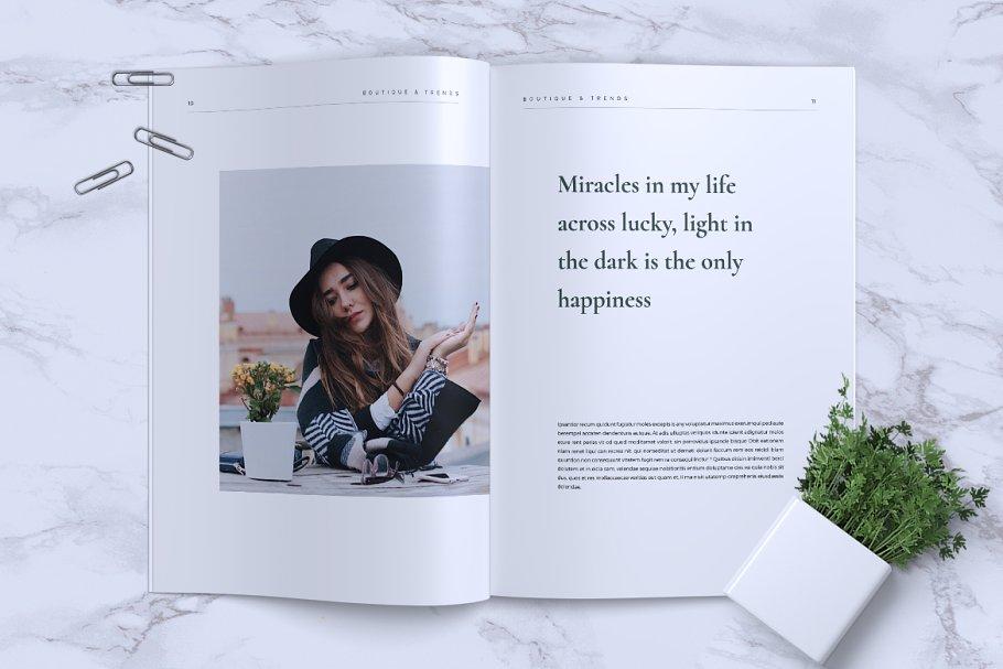 极简主义风画册模板MISQUEEN Minimal Magazine Styles