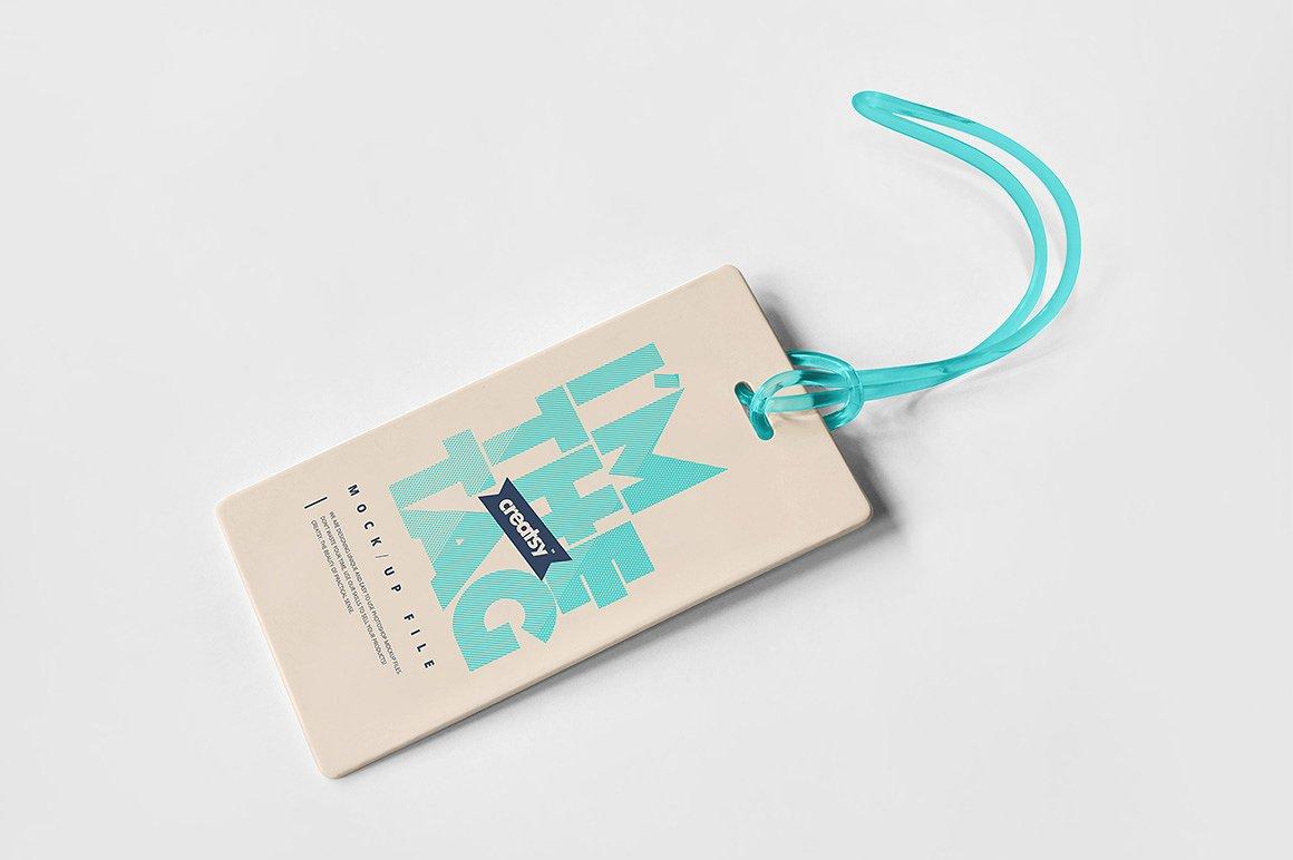 品牌设计提案办公文创工作证展示样机 cm1196830 Luggage Diaper Tag Mockup Set(1)
