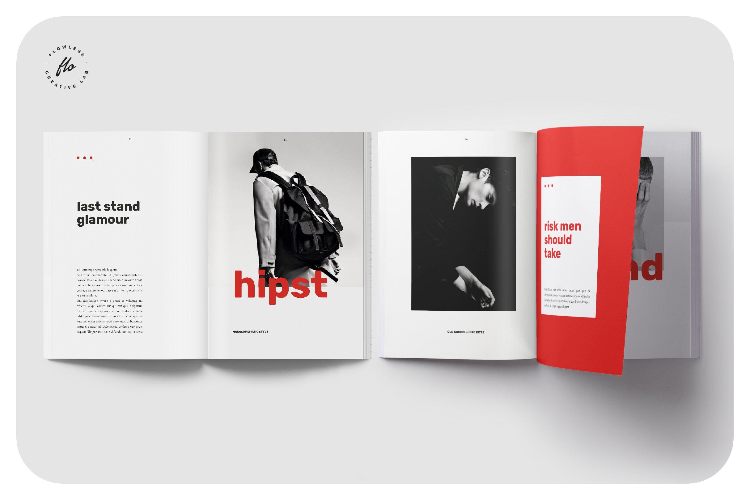 低调奢华男士服装画册杂志模板 HIPST Menswear Lookbook Catalog